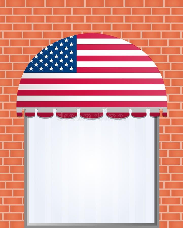 Os EUA embandeiraram o toldo da cor ilustração do vetor