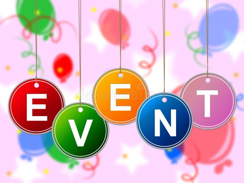Os eventos do evento representam ocasiões cerimônia e caso ilustração stock