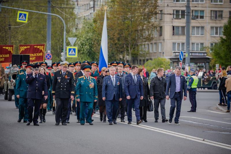 Os eventos festivos podem sobre 8, 2019 no distrito de Nevsky de St Petersburg, R?ssia foto de stock royalty free