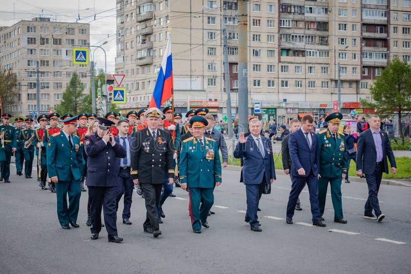 Os eventos festivos podem sobre 8, 2019 no distrito de Nevsky de St Petersburg, R?ssia imagens de stock