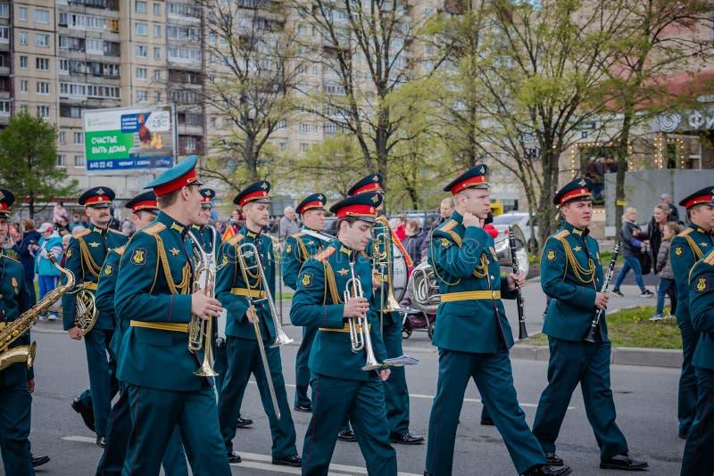 Os eventos festivos podem sobre 8, 2019 no distrito de Nevsky de St Petersburg, R?ssia fotografia de stock