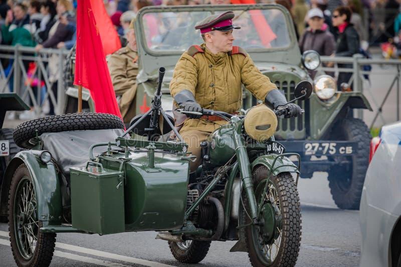 Os eventos festivos podem sobre 8, 2019 no distrito de Nevsky de St Petersburg, R?ssia imagens de stock royalty free