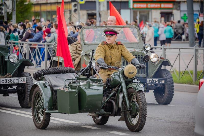 Os eventos festivos podem sobre 8, 2019 no distrito de Nevsky de St Petersburg, R?ssia foto de stock