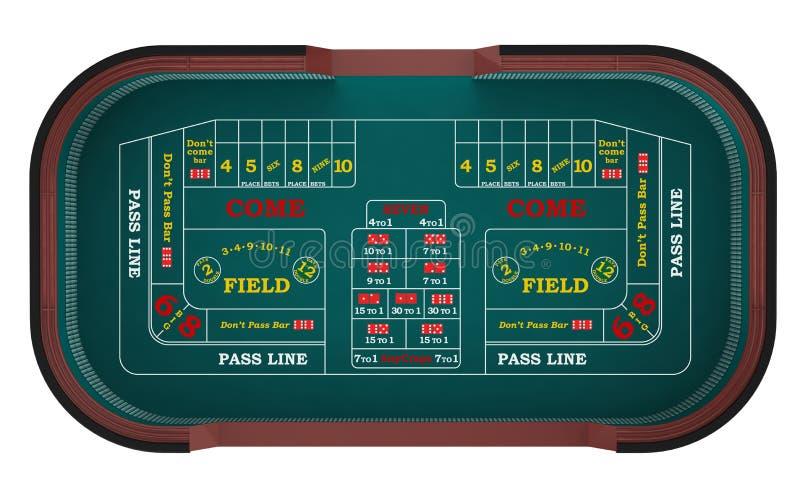 Os excrementos tabelam em um casino ilustração royalty free
