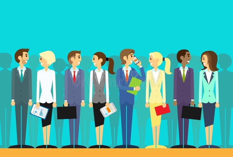 Os executivos agrupam o vetor liso dos recursos humanos ilustração royalty free