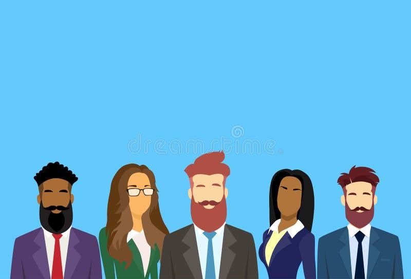 Os executivos agrupam Team Businesspeople diverso ilustração royalty free