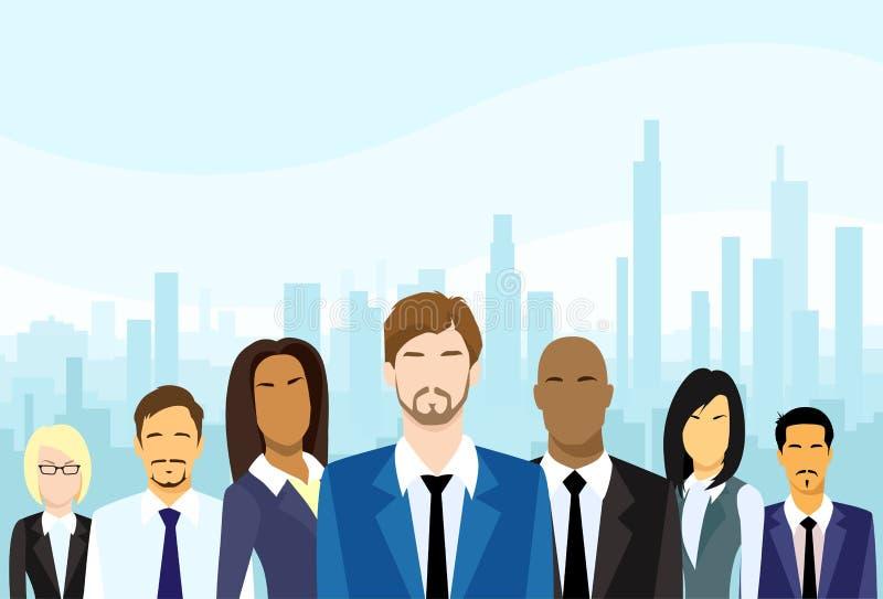 Os executivos agrupam Team Vetora diverso ilustração royalty free
