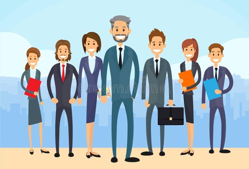 Os executivos agrupam Team Vetora diverso ilustração do vetor