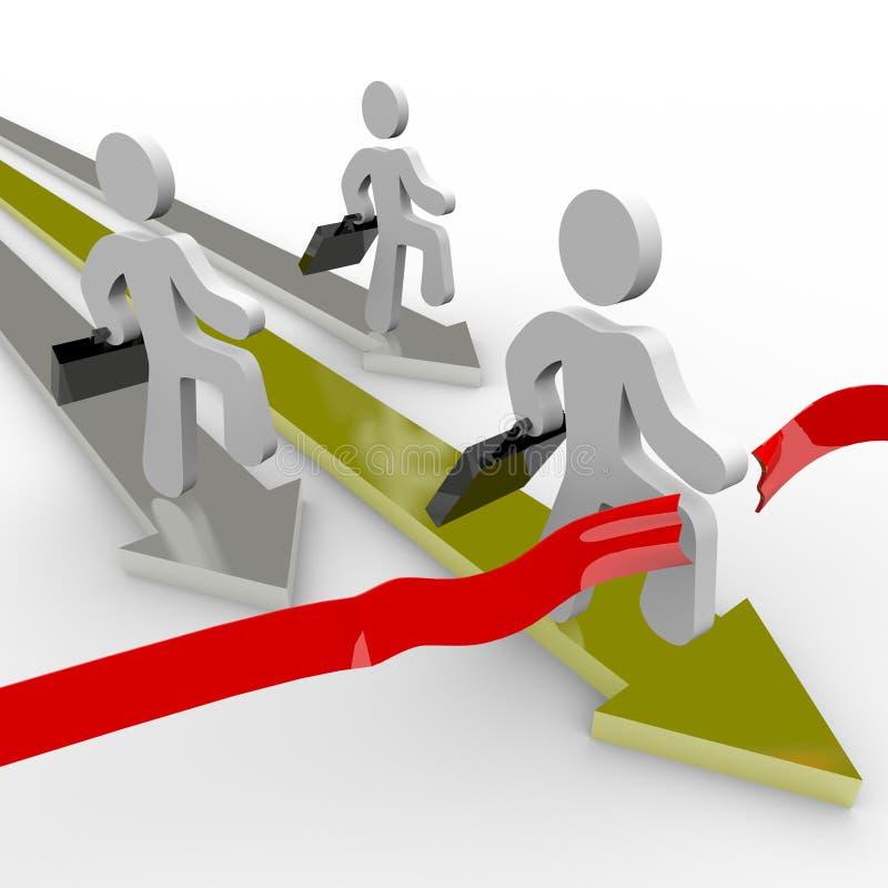 Os executivos competem através do meta ilustração royalty free