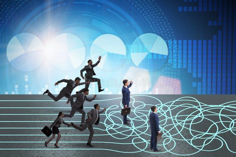 Os executivos no conceito da incerteza imagem de stock royalty free