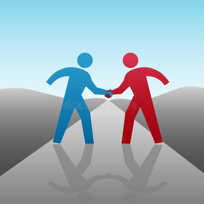 Os Executivos Progridem Junto Aperto De Mão Imagens de Stock