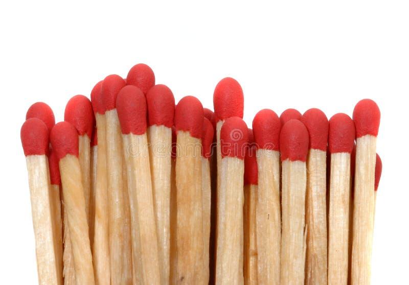 Os fósforos vermelhos fecham-se acima foto de stock royalty free