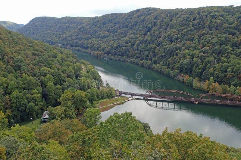 Os falcões aninham o parque estadual, West Virginia foto de stock