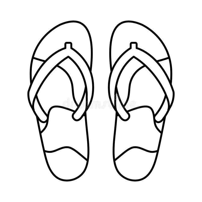 Os falhanços de aleta isolaram o ícone ilustração do vetor