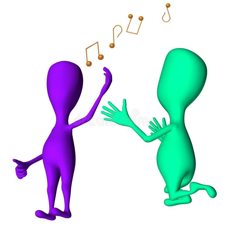 Download Os Fantoches 3d Diferentes Que Cantam E Pedem Outros Ilustração Stock - Ilustração de tração, fazer: 26501613