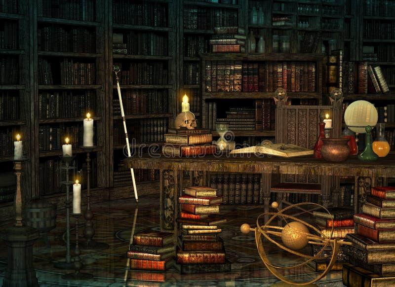 Os feiticeiros colocam, 3d CG ilustração stock