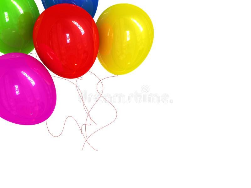 Os feriados cardam com ballons imagens de stock