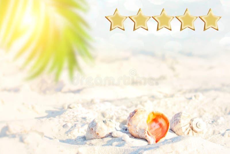 os feriados de 5 estrelas negociam, encalham e o seascape, vai faz4e-lo Espaço para o texto Conceito da experiência do cliente, o foto de stock