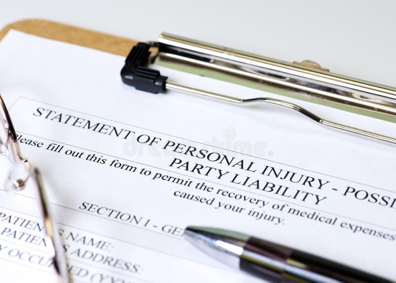 Os ferimentos pessoais fotos de stock royalty free