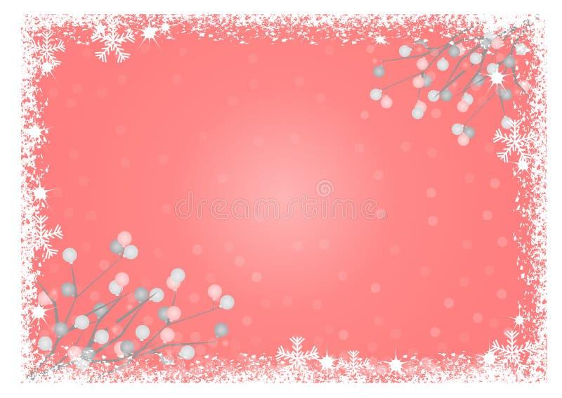 Os flocos de neve moldam com bolas ilustração royalty free