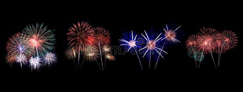Os fogos-de-artifício indicam na celebração fotografia de stock royalty free