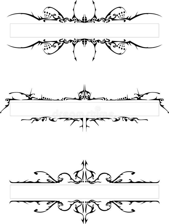 os frames góticos ilustração stock