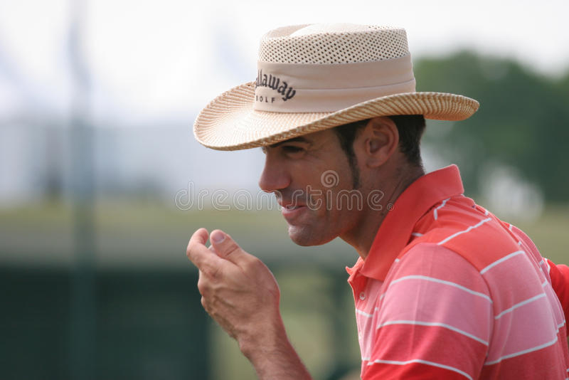 Download Os Franceses Do Golfe De Alvaro Quiros (spain) Abrem 2009 Foto de Stock Editorial - Imagem de bater, esfera: 10055233
