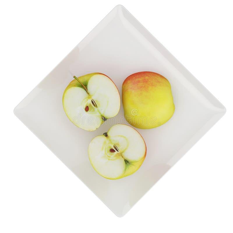 Os frutos isométricos 3D rendem imagem de stock