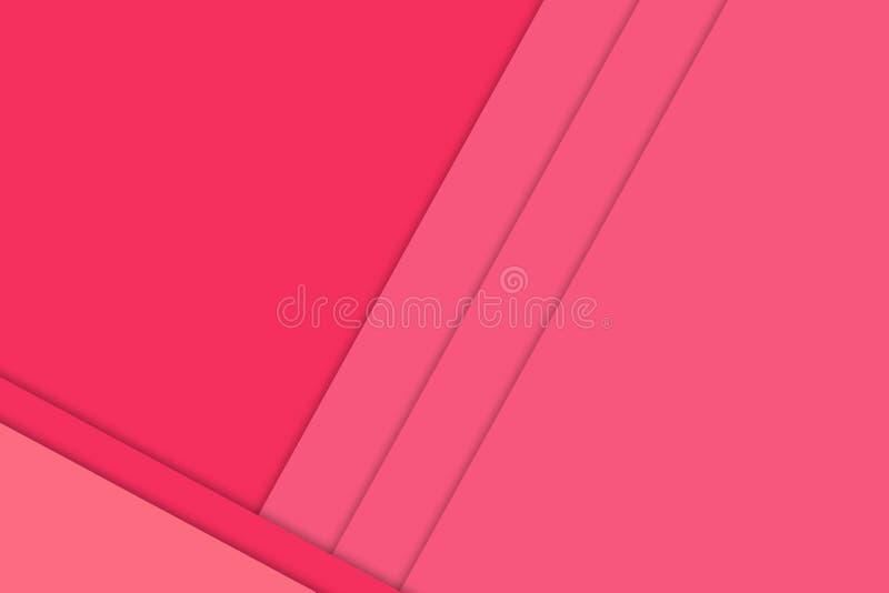Os fundos de papel de sobreposição coloriram brilhantemente o rosa quente ilustração do vetor
