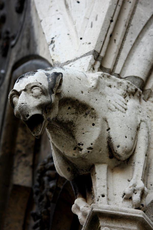 Os Gargoyles de Notre Dame fotografia de stock royalty free