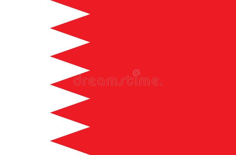 Os gráficos de vetor da bandeira de Barém imagem de stock royalty free