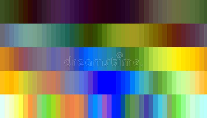 Os gráficos, quadrados pasteis azuis alaranjados do amarelo, abstraem o fundo dado forma ilustração do vetor