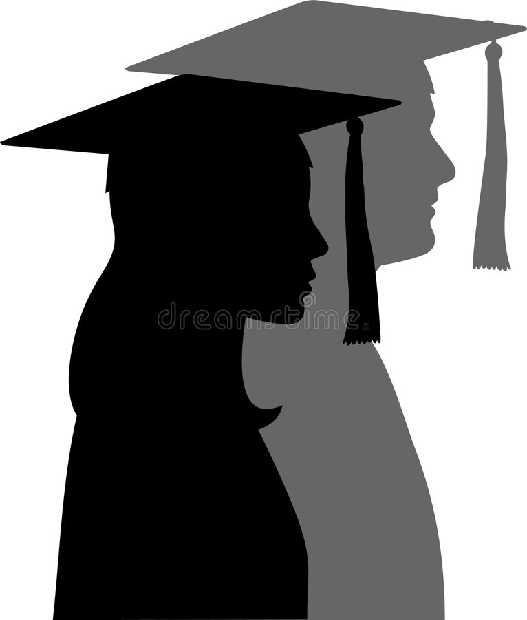 Os graduados/eps ilustração royalty free