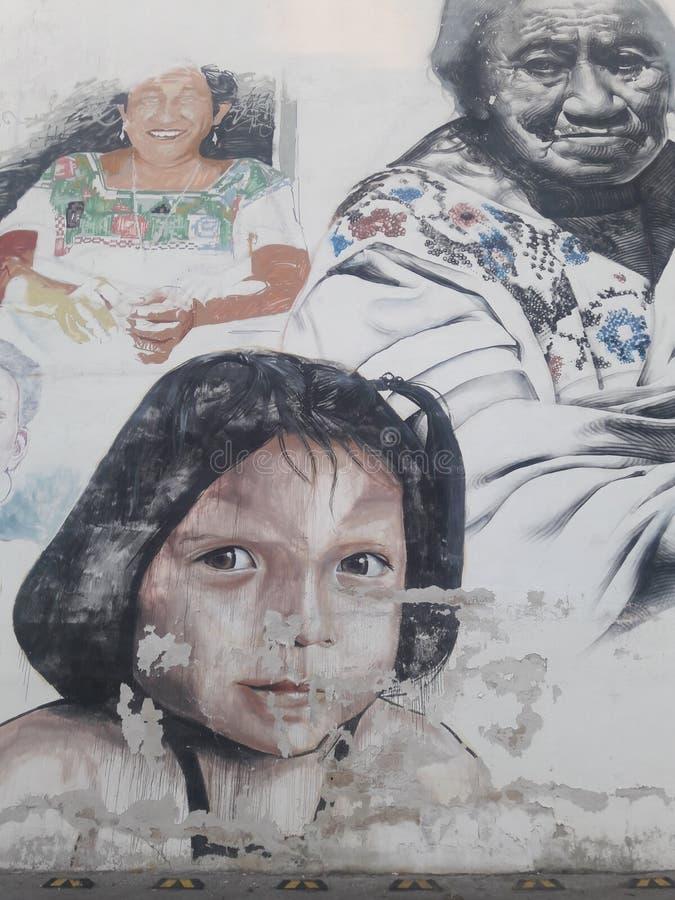 Os grafittis Cidade do México popular sob a estrada relacionaram-se ao presidente esquerdista do partido em relação à luta da lib imagem de stock