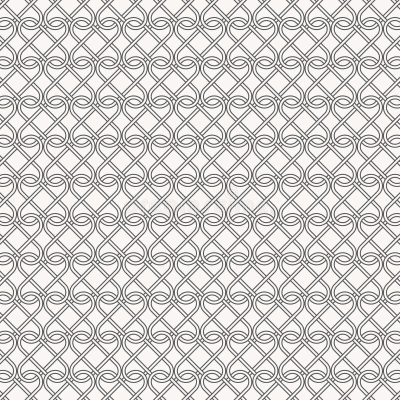 Os grampos do sum?rio lineares cruzaram-se cada, o teste padr?o est? limpo e capaz alinhe ? m?o ilustração do vetor
