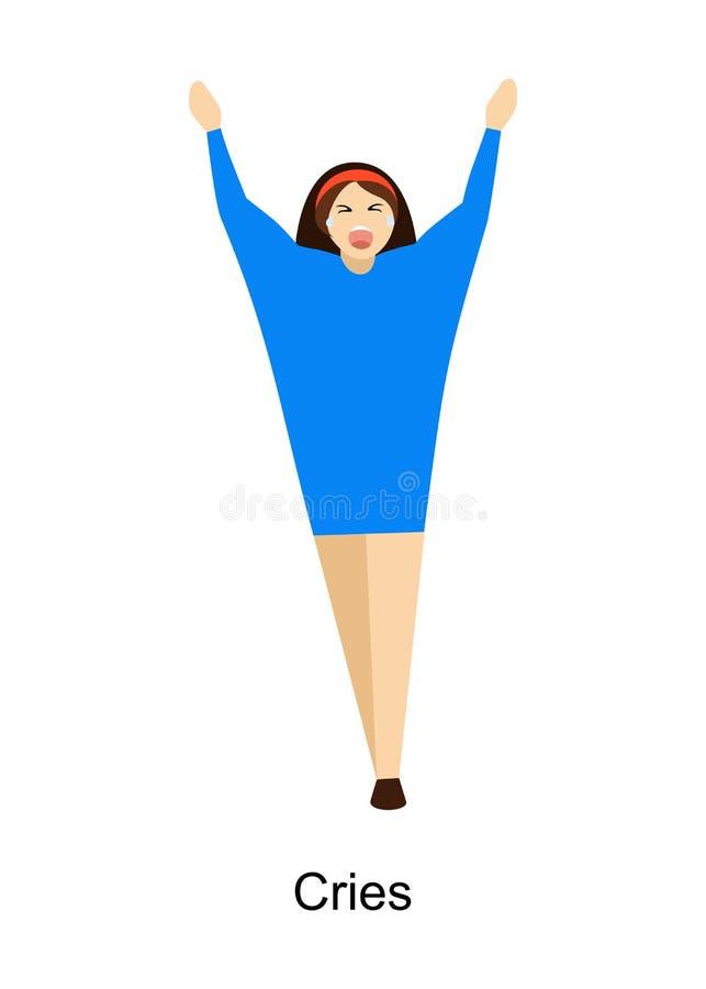 Os gritos da mulher ilustração royalty free