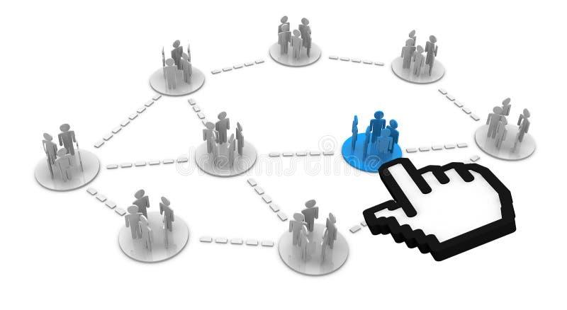 Os grupos conectam ilustração stock
