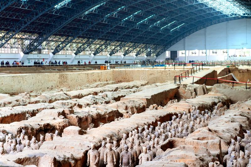 Os guerreiros da terracota de China fotos de stock royalty free