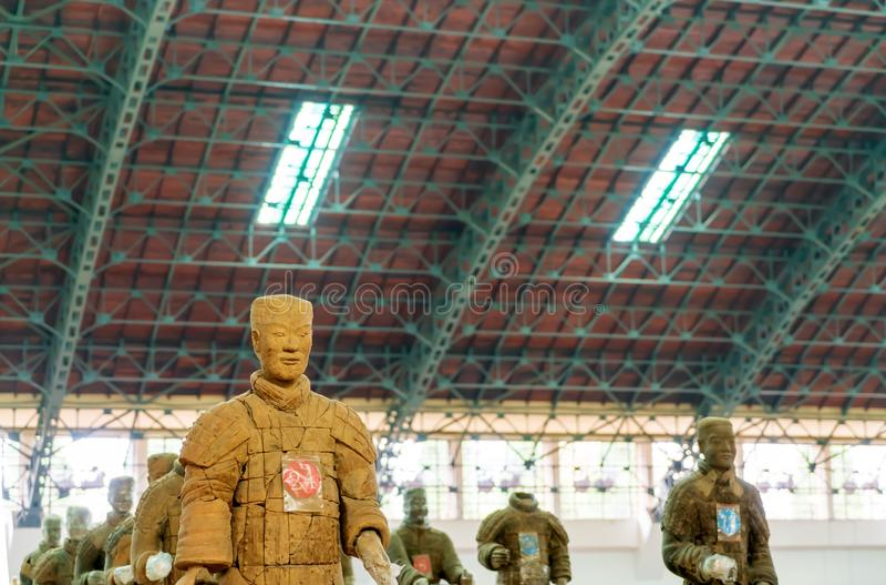 Os guerreiros da terracota de China foto de stock royalty free