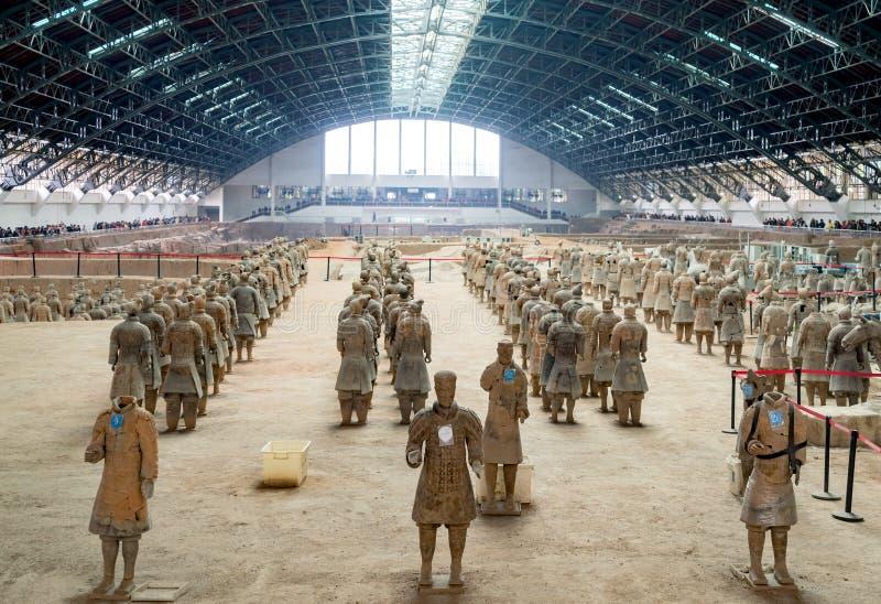 Os guerreiros da terracota de China fotografia de stock
