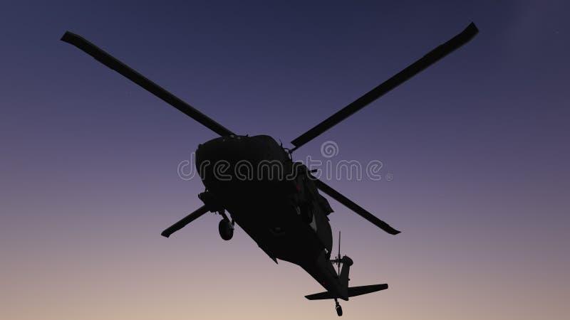 Os helicópteros expõem ao sol o grupo ilustração royalty free