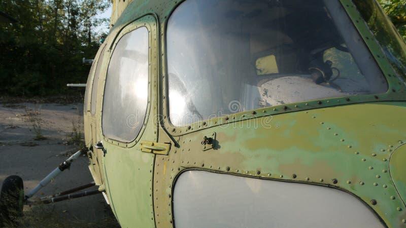 Os helicópteros Mi-2 estão na preservação a longo prazo fotografia de stock royalty free