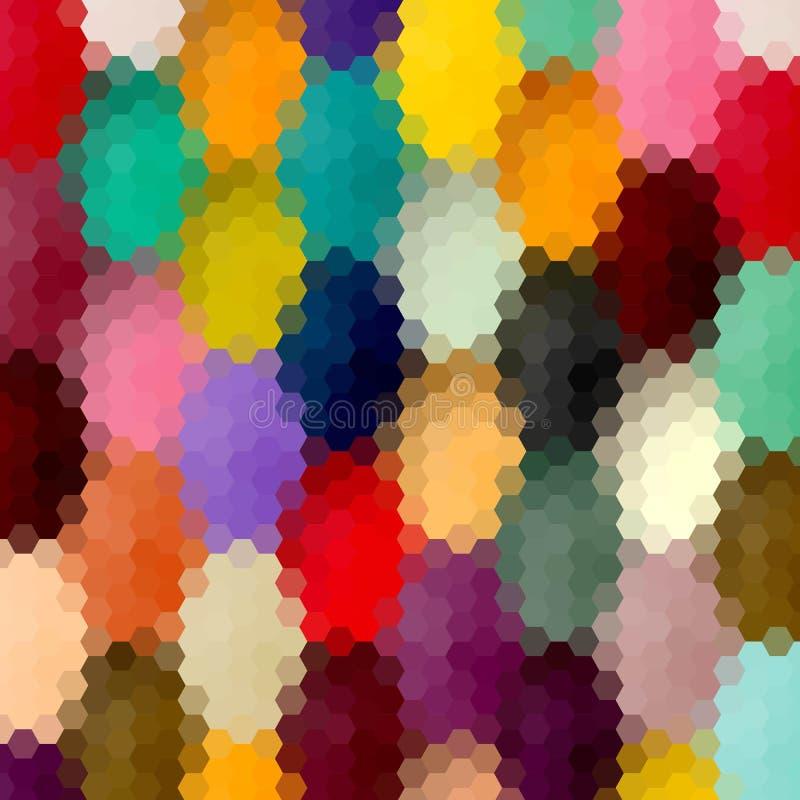 Os hexágonos coloridos abstraem o fundo Disposi??o para anunciar Eps 10 ilustração royalty free