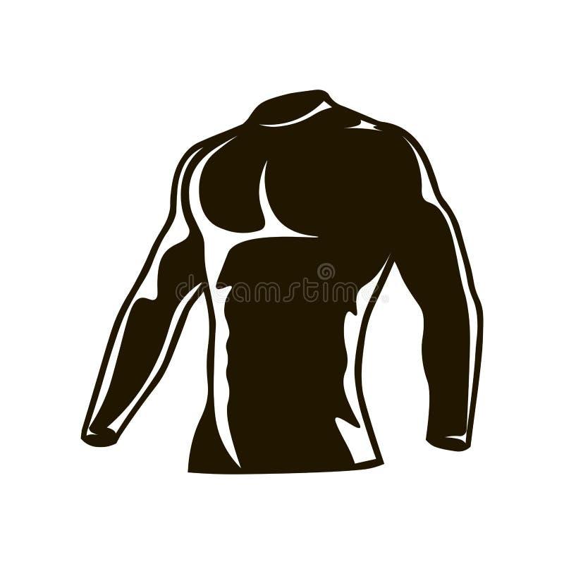 Os homens da compressão serem os homens que dão um ciclo a parte superior térmica da compressão do velo do inverno - Longo-luva ilustração stock