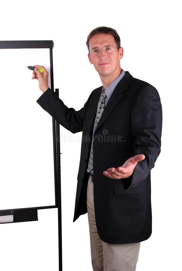 Os homens de negócio explicam foto de stock