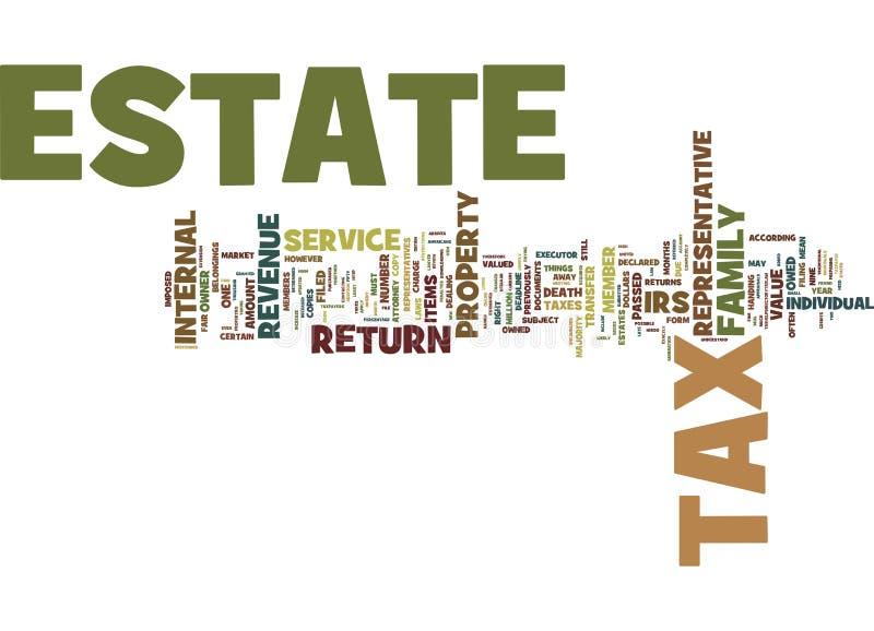 Os impostos sobre propriedade o que é e como é conceito arquivado da nuvem da palavra ilustração royalty free