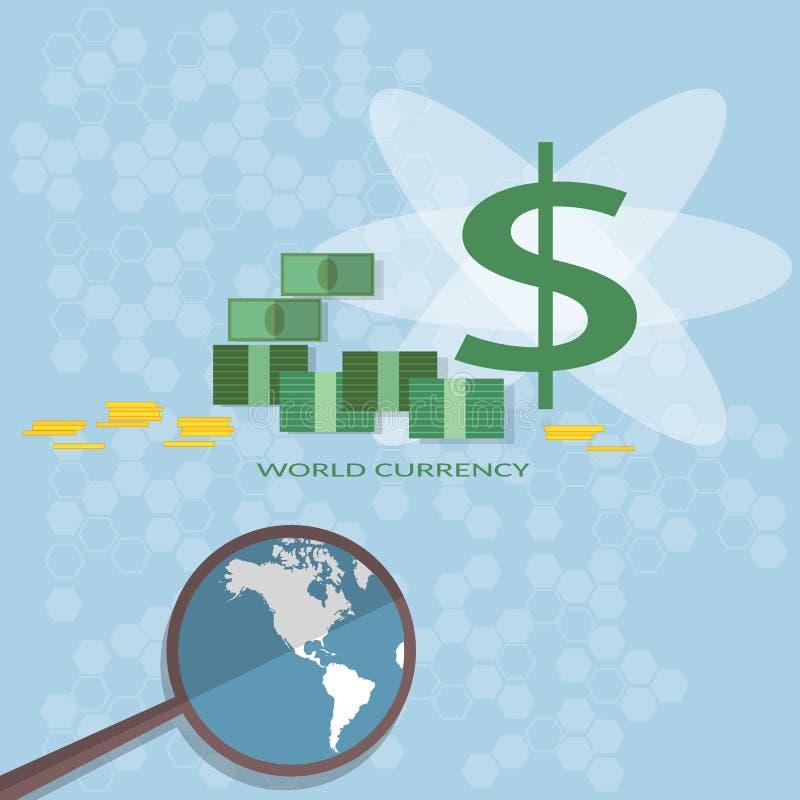 Os investimentos do financiamento do dinheiro procuram pelo negócio dos acionistas em linha ilustração royalty free