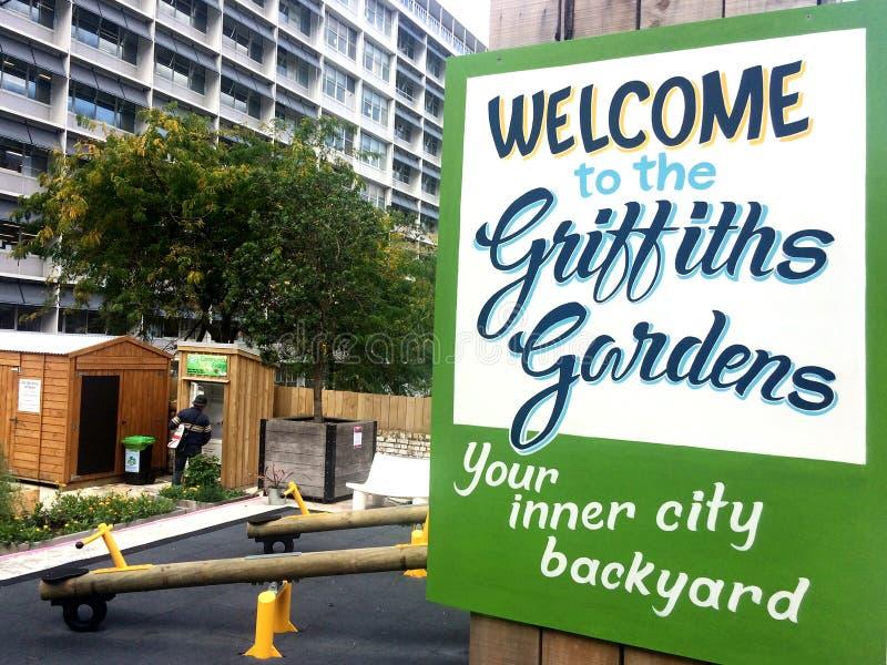 Os jardins de Griffiths caracterizam um refrigerador da comunidade em Auckland fotografia de stock royalty free