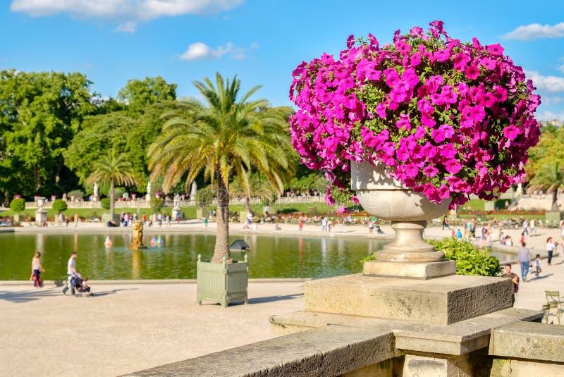 Os jardins de Luxemburgo em Paris imagens de stock