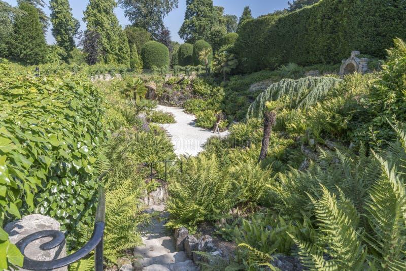 Os jardins em Brodsworth Salão, Doncaster, Inglaterra fotos de stock royalty free